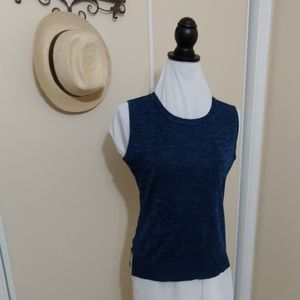 NWOT Exclusive misook tank black and blue S
